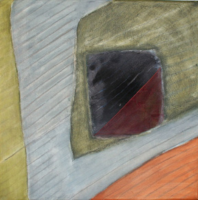 Untitled mixed media and oil on canvas by Wayne Stephens