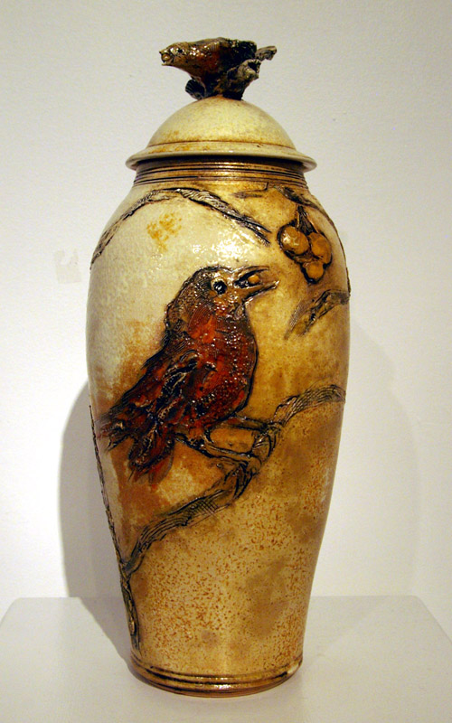 This Bird Jar was priced at $650 and is sold. There will be similar jars available.