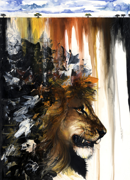 lion-and-antelope