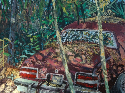 """""""'Old Regal' Sentiment,"""" 18 by 24 inches, Acrylic on Canvas, (in the Library Show) $600"""