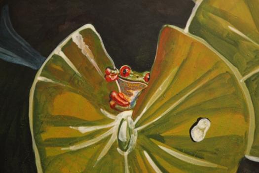 E-Koi Pond-Green Frog